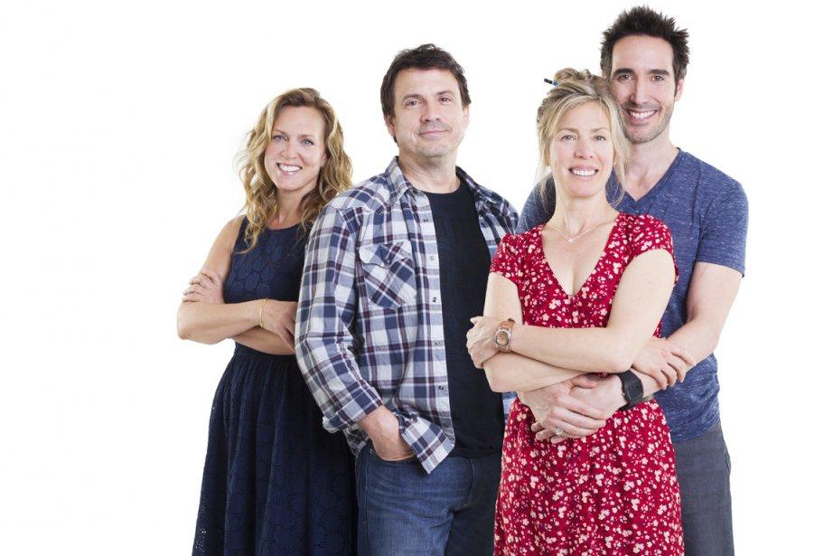 Sophie Prégent, Claude Legault, Céline Bonnier et Daniel... (PHOTO FOURNIE PAR TVA)