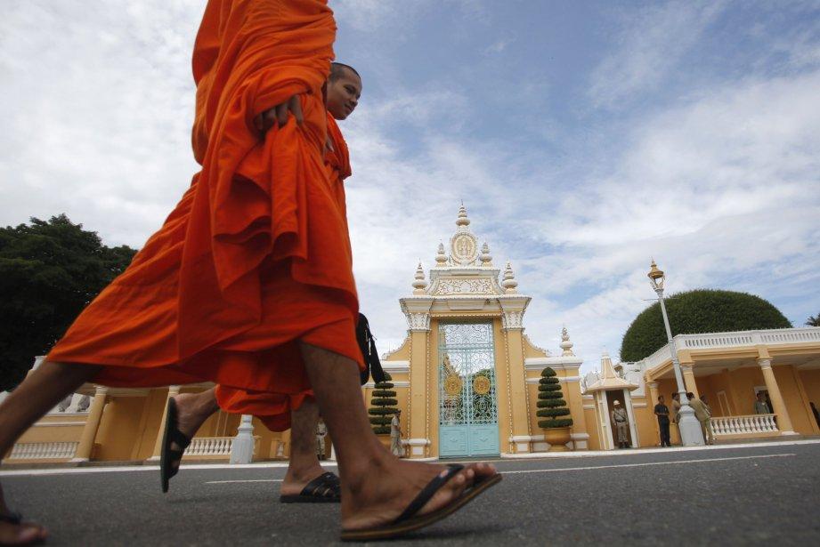 La devanture du palais royal cambodgien.... (PHOTO SAMRANG PRING, Reuters)