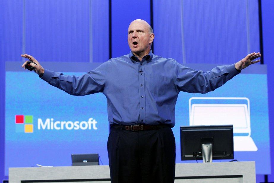 Le patron de Microsoft Steve Ballmer, qui s'apprête... (Photo Robert Galbraith, Reuters)