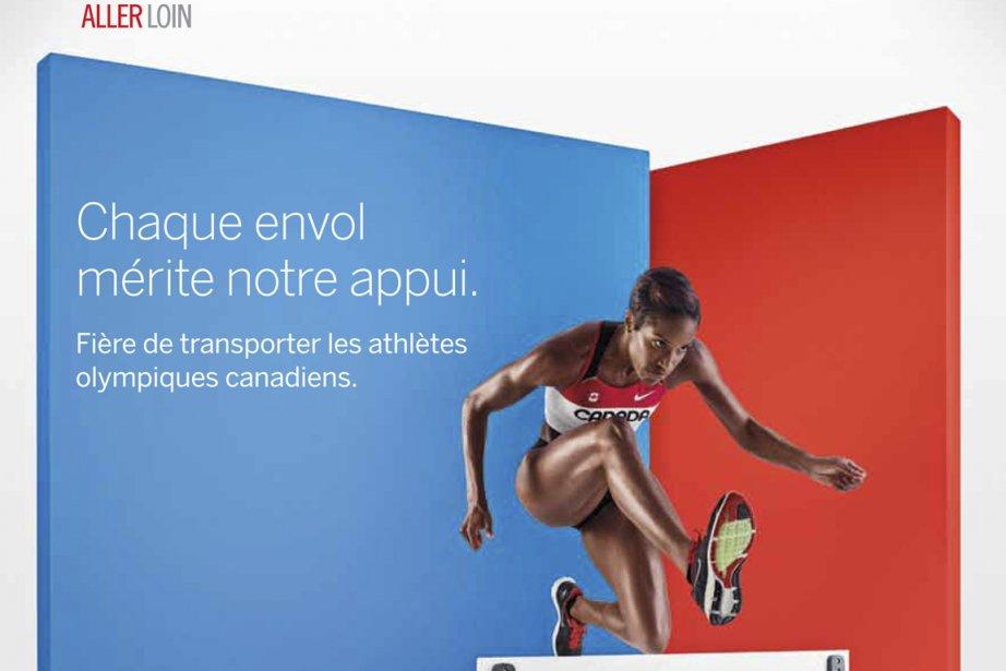 Une publicité conçue par Marketel en 2012. L'agence... (Photo fournie par Air Canada)