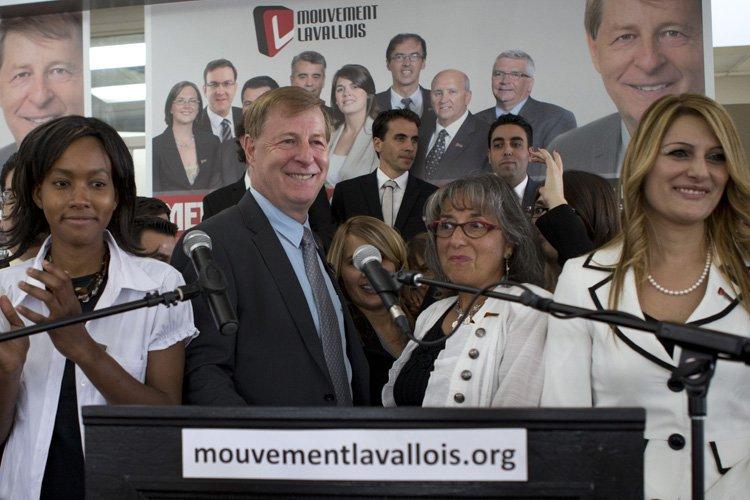 Le candidat à la mairie de Laval Marc... (Photo: Robert Skinner, La Presse)