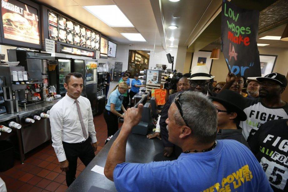 La reprise américaine crée beaucoup de «McJobs» à... (Photo REUTERS)