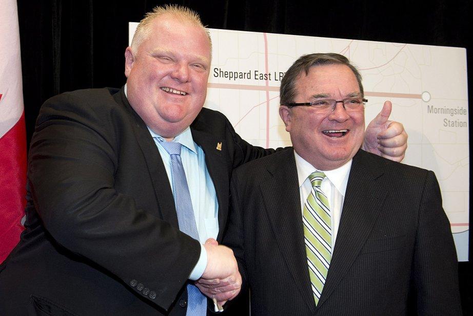 Le maire de Toronto Rob Ford et le... (PHOTO Frank Gunn, LA PRESSE CANADIENNE)