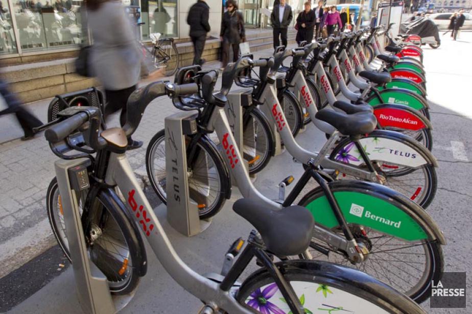 L'imposante flotte de vélos de même que les... (PHOTO ALAIN ROBERGE, ARCHIVES LA PRESSE)