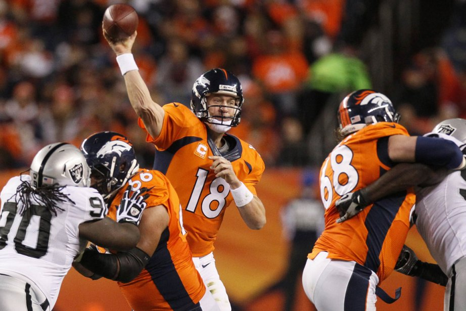 Peyton Manning a lancé trois passes de touché... (Photo Rick Wilking, Reuters)
