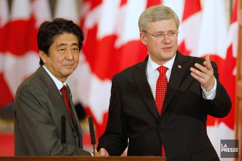 Le premier ministre du Canada, Stephen Harper, à... (Photo Patrick Doyle, AFP)