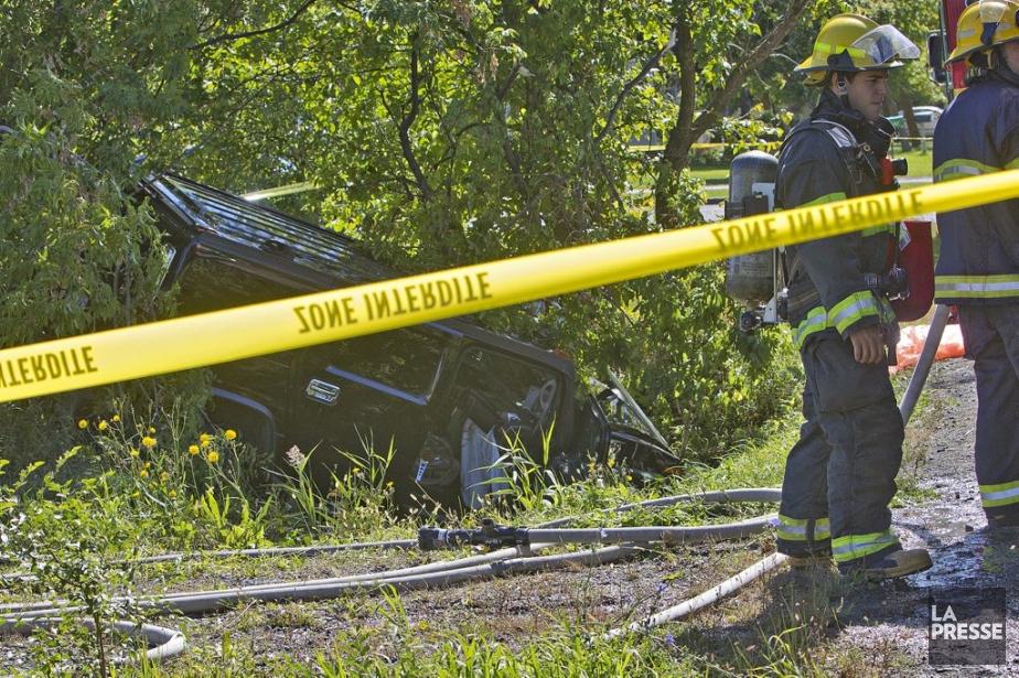 Un homme est décédé après un accident de... (Photo: Patrick Sanfaçon, La Presse)