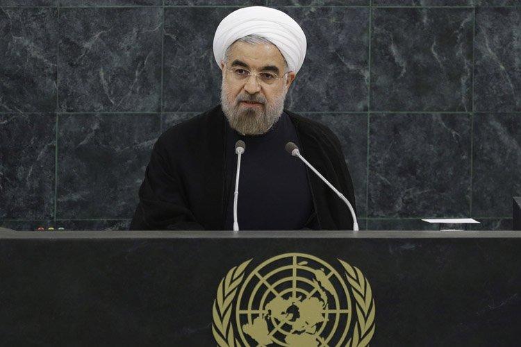 Hassan Rohani a prononcé un discours devant l'ONU... (Photo: AP)