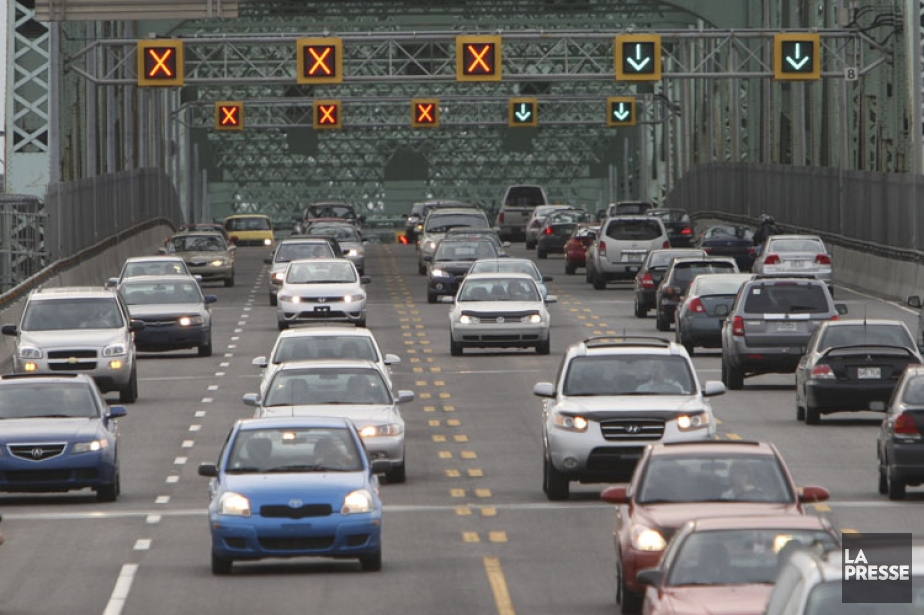 Un péage sur le nouveau pont Champlain aurait... (Photo: Martin Chamberland, archives La Presse)