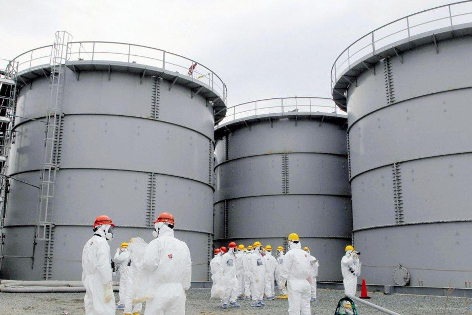 La centrale accidentée Fukushima Daiichi regorge d'eau radioactive... (PHOTO ARCHIVES REUTERS/KYODO)