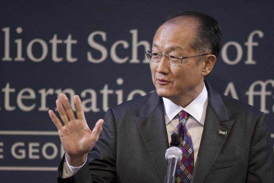 Le président de la Banque mondiale,Jim Yong Kim,... (PHOTO JIM WATSON, AFP)