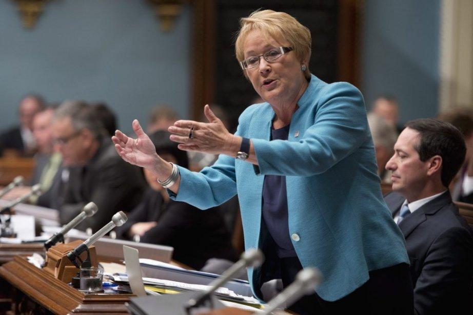 Pauline Marois répond aux questions de l'opposition, mercredi.... (Photo PC)