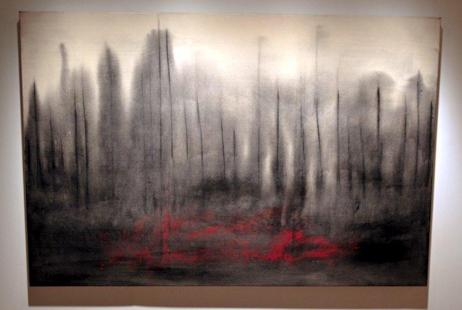 Forêt numéro  6, huile sur toile (Le Soleil, Pascal Ratthé)