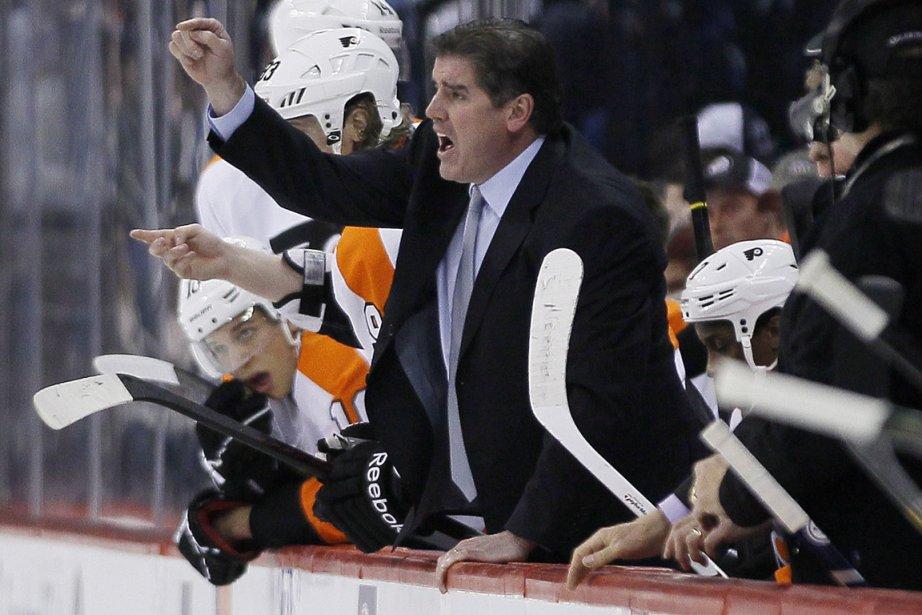 L'entraîneur des Flyers de Philadelphie, Peter Laviolette.... (Photo John Woods, PC)