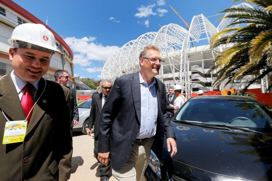 Le secrétaire général de la FIFA Jérôme Valcke... (Photo Jefferson Bernardes, AFP)