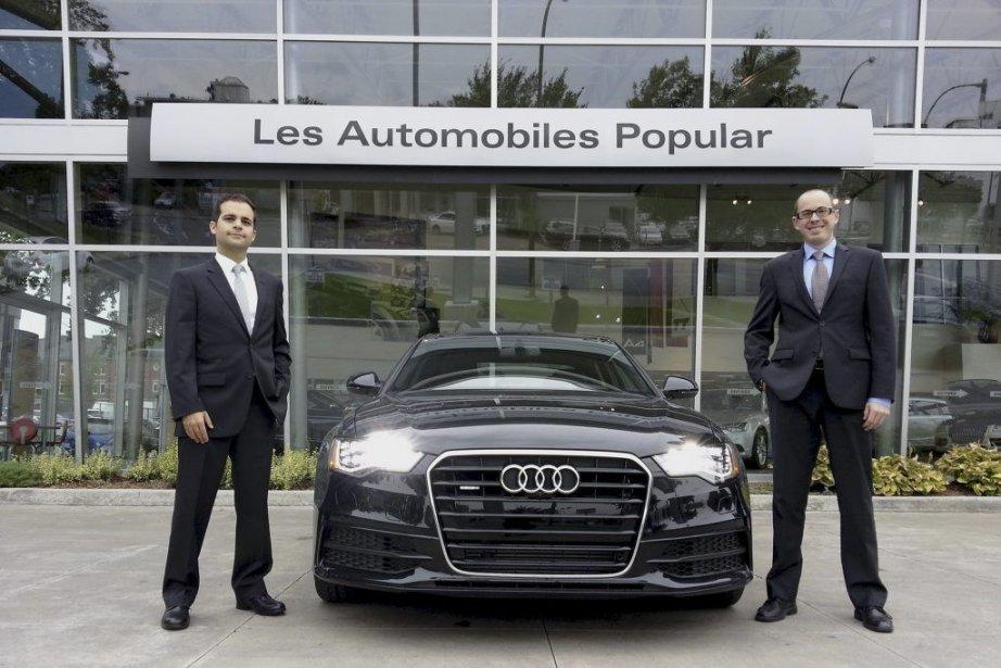 Paul Bassili, vice-président d'Audi Popular, et Geoffroy Degryse,... (PHOTO FOURNIE PAR AUDI POPULAR)