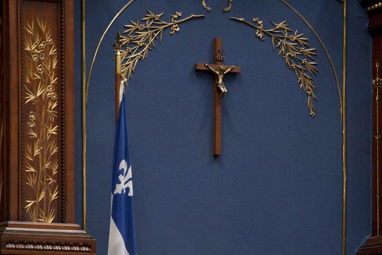 Maurice Duplessis avait fait installer un crucifix au... (Photo: PC)