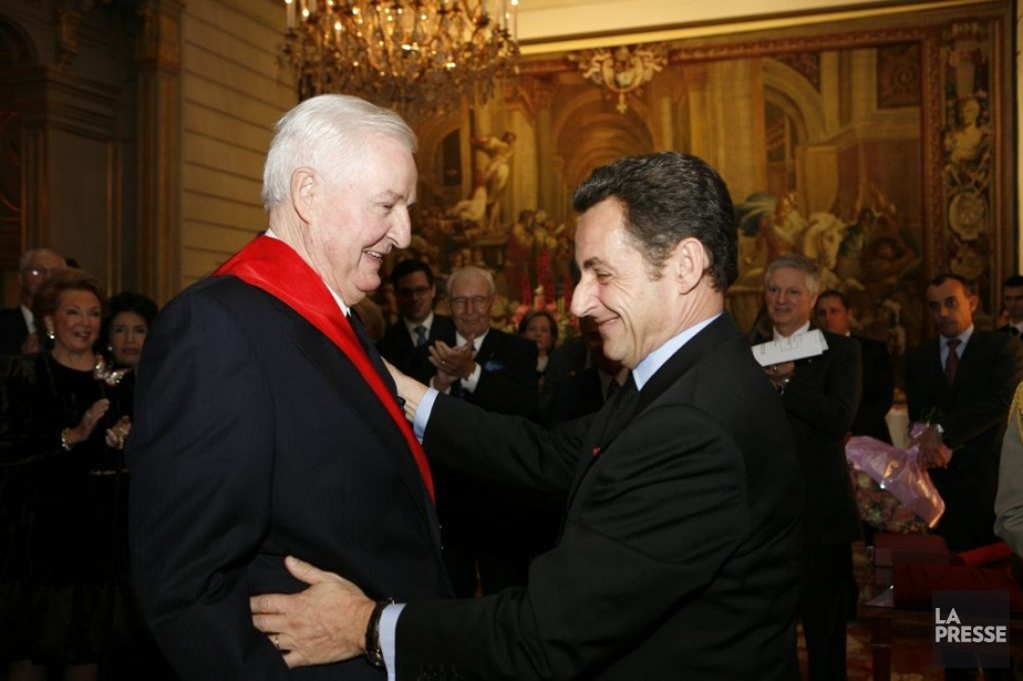Paul Desmarais et nicolas Sarkozy.... (Photo archives La Presse)