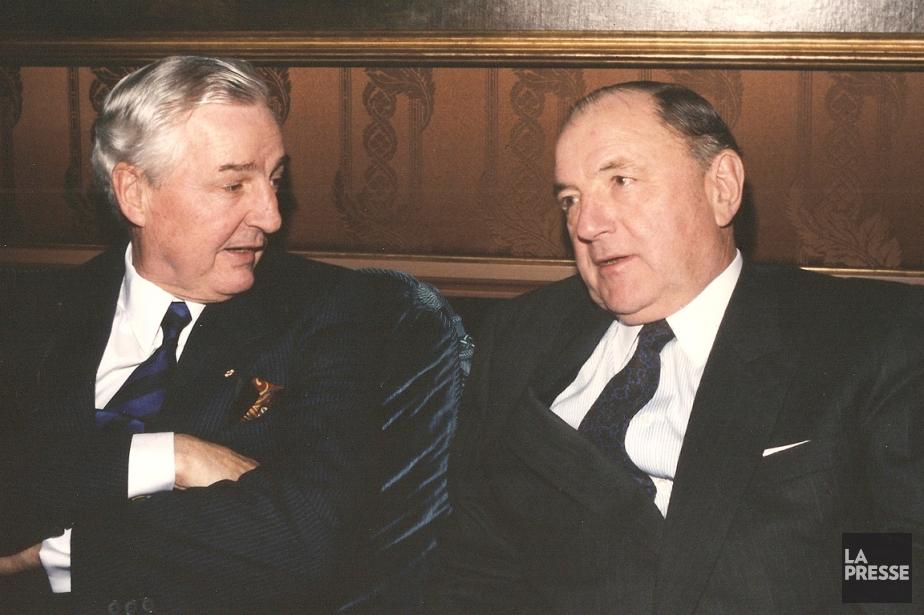 Paul Desmarais en compagnie du Belge Albert Frère,... (PHOTO ARCHIVES LA PRESSE)