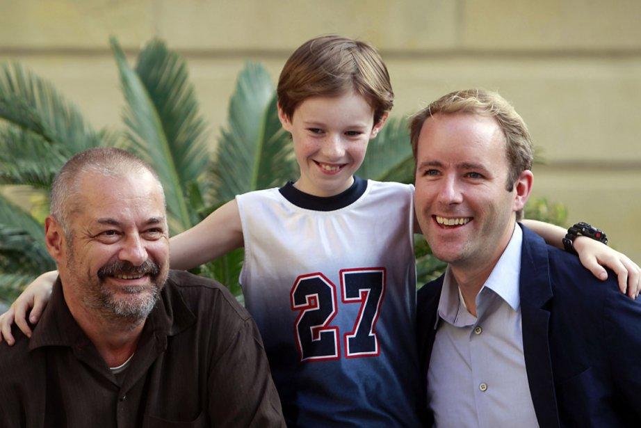 Le réalisateur Jean-Pierre Jeunet, l'acteur Kyle Catlett et... (Photo RAFA RIVAS, AFP)