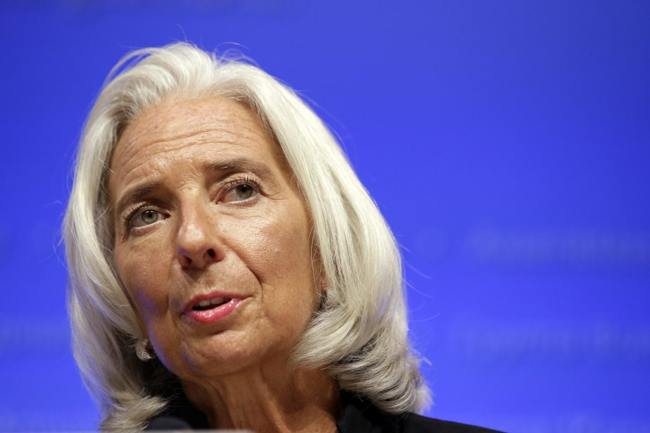 La directrice générale du FMI, Christine Lagarde.... (Photo Alex Brandon, AP)