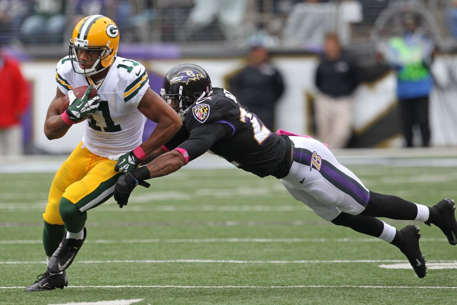 Jarrett Boykin (11) des Packers etJimmy Smith (22)... (Photo Mitch Stringer, USA TODAY)