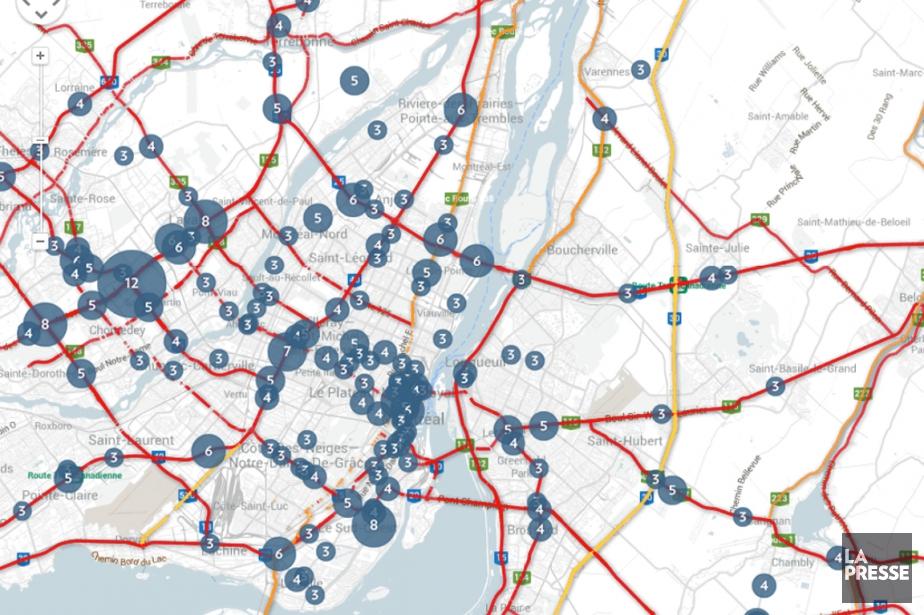 Explorez nos cartes interactives des accidents routiers.... (INFOGRAPHIE LA PRESSE)