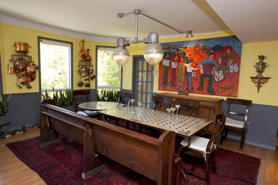 Vivre en couleurs julie turgeon design for Peindre un mur de deux couleurs