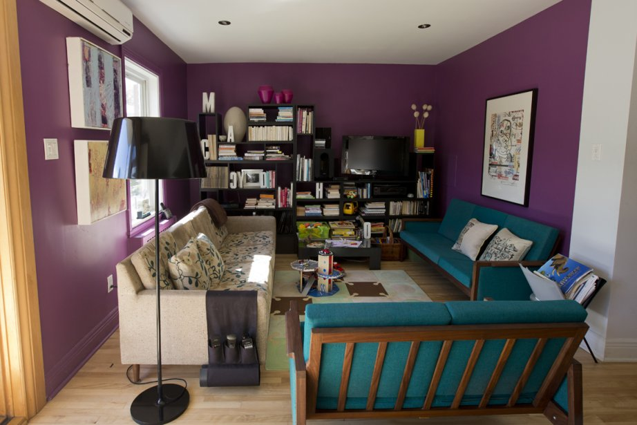 Vivre en couleurs julie turgeon design - Salon couleur violet ...