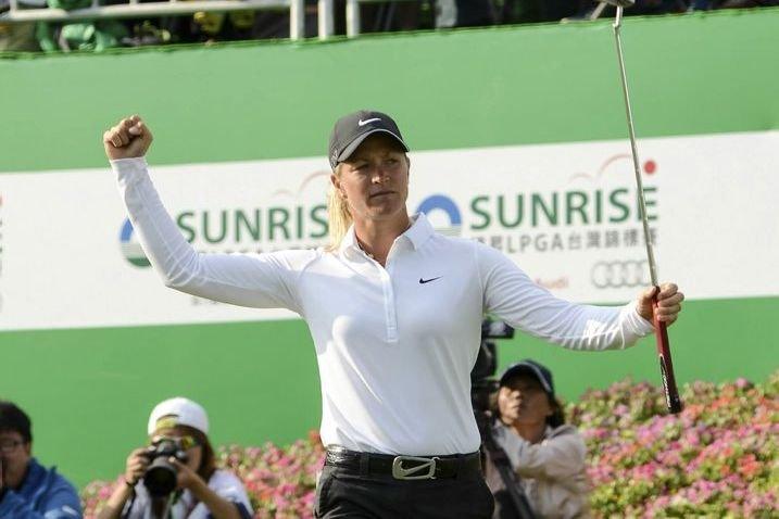 Suzann Pettersen a gagné un deuxième titre consécutif... (Photo AP)