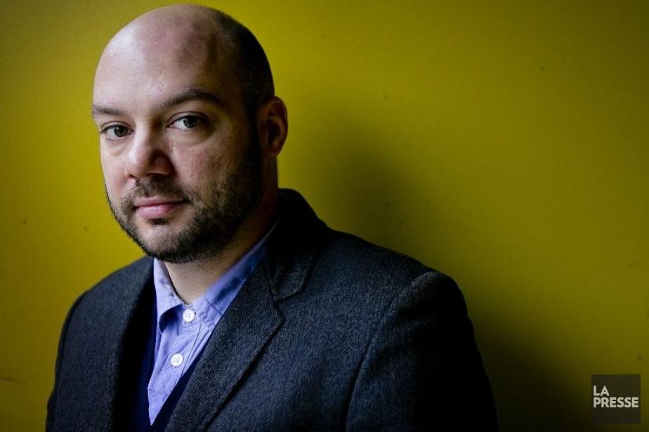 L'auteur et metteur en scène Justin Laramée présente... (Photo: Marco Campanozzi, La Presse)