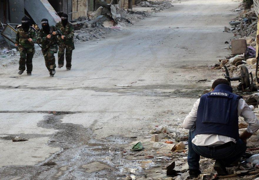 L'augmentation des risques a conduit de nombreux médias... (PHOTO  KARAM AL-MASRI, archives AFP)