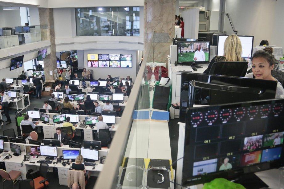 La salle de nouvelles d'Al-Jazeera America... (Photo: AP)
