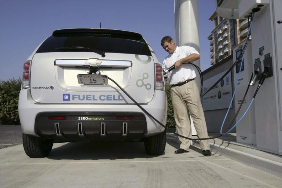 Une auto roulant à l'hydrogène.... (Photo fournie par GM)