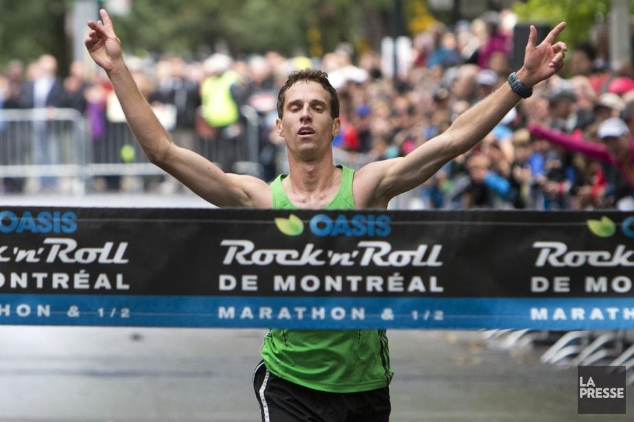 David Savard-Gagnon a remporté le Marathon de Montréal... (Photo Robert Skinner, La Presse)