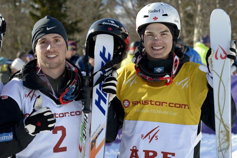 Alexandre Bilodeau et Mikaël Kingsbury... (Photo Janerik Henriksson, Reuters)