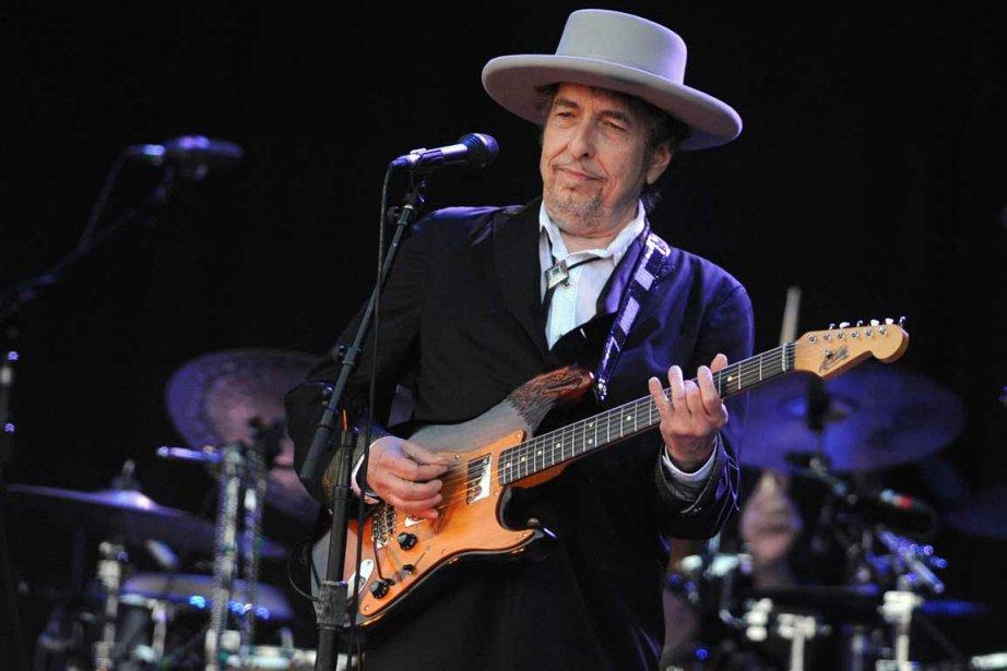 Bob Dylan au Festival des Vieilles Charrues, en... (Photo: archives AFP)