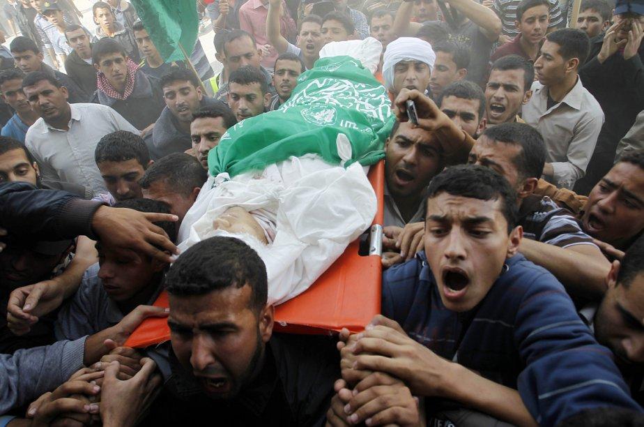 Selon des sources sécuritaires palestiniennes, les quatre combattants... (Photo AFP)