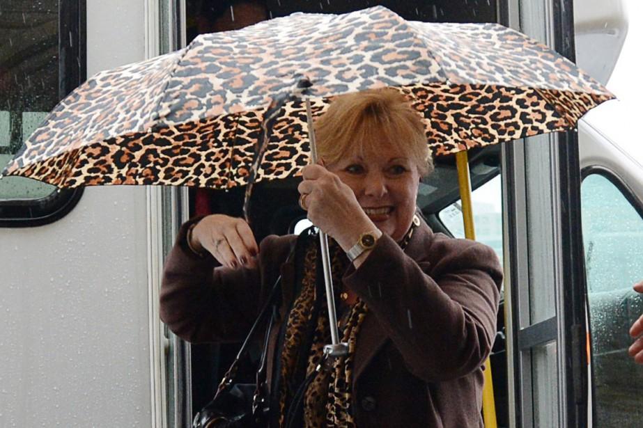 Pamela Wallin à son arrivée au Sénat, jeudi.... (Photo Sean Kilpatrick, archives PC)