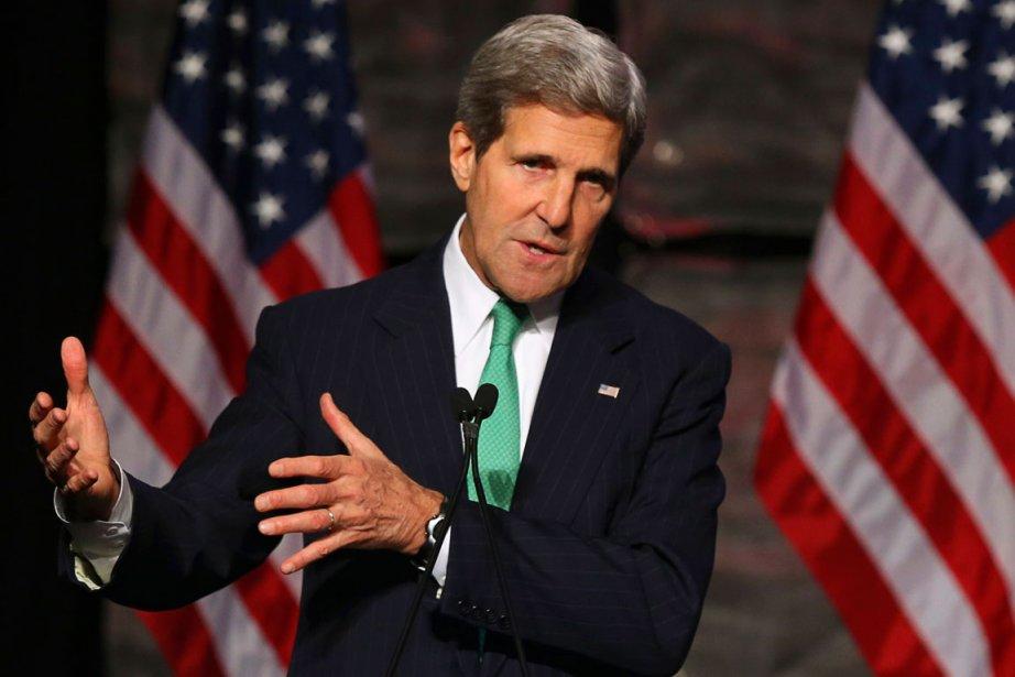 Le secrétaire d'État américain John Kerry.... (Photo Gary Cameron, Reuters)