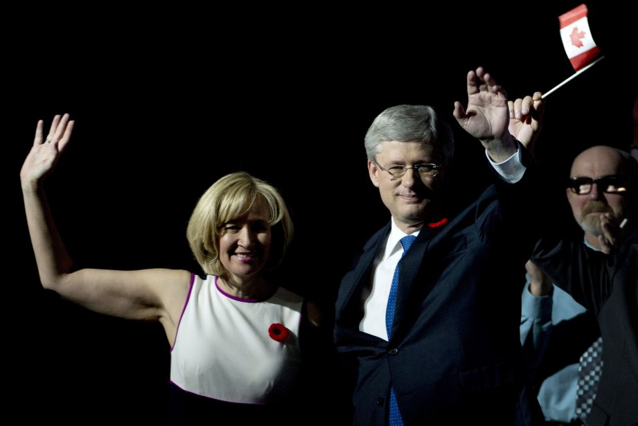 Dans son très attendu discours aux militants conservateurs au... (Photo PC)