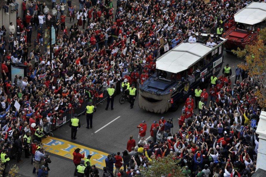 Les Red Sox ont remporté la Série mondiale... (Photo Greg M. Cooper, USA Today Sports)