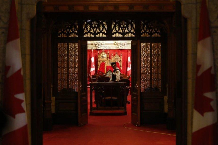 L'entrée du Sénat canadien.... (Photo archives La Presse Canadienne)