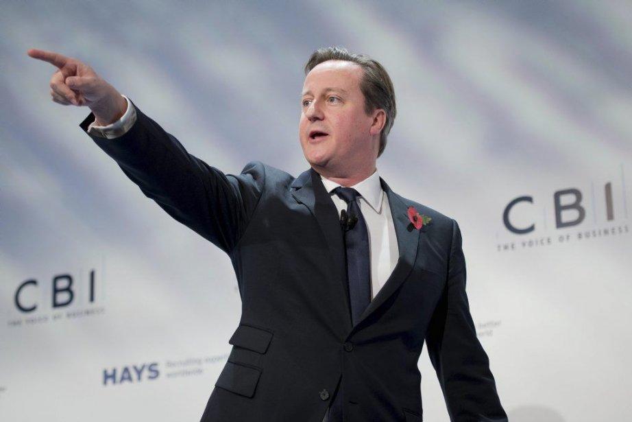 Le premier ministre conservateur David Cameron a promis... (Photo LEON NEAL, AFP)
