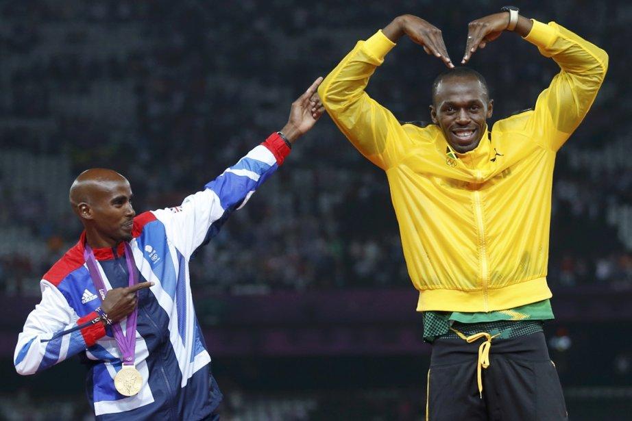 Mo Farah et Usain Bolt... (Photo Eddie Keogh, archives Reuters)