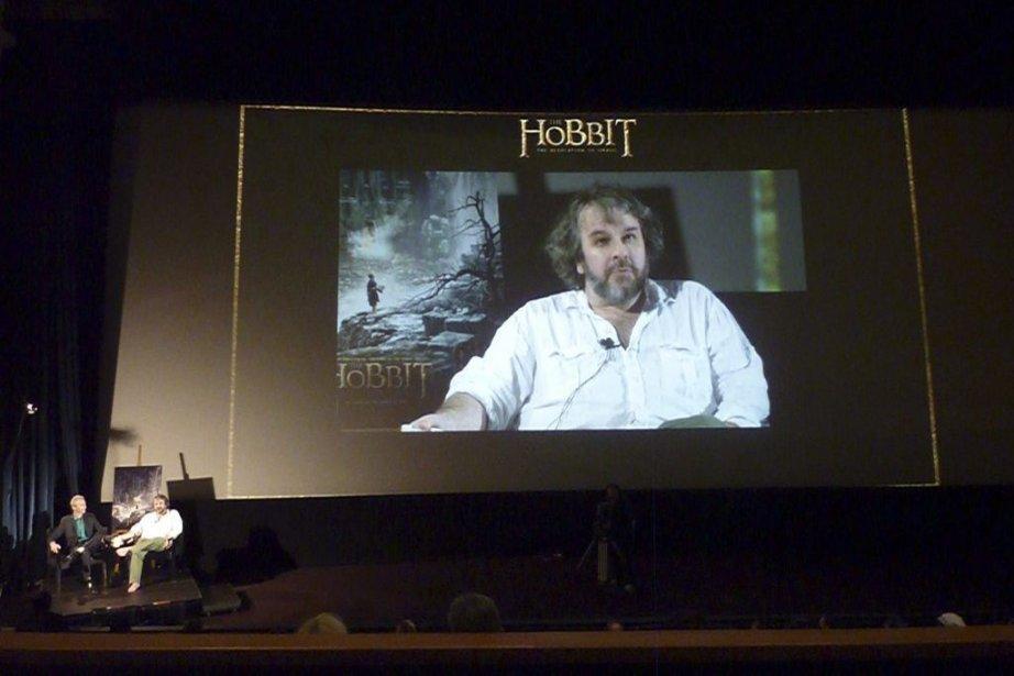 Le réalisateur Peter Jackson a répondu par vidéoconférence... (Photo: AFP)
