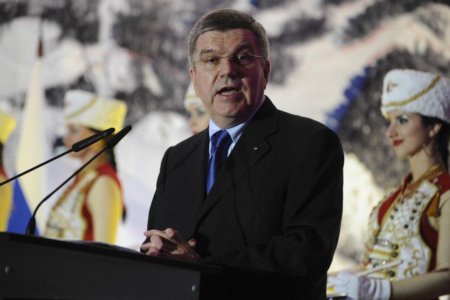 Le président du CIO, Thomas Bach.... (Photo Nina Zotina, Reuters)