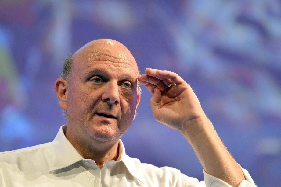 Steve Ballmer, le directeur général sortant de Microsoft,... (PHOTO GABRIEL BOUYS, AFP)