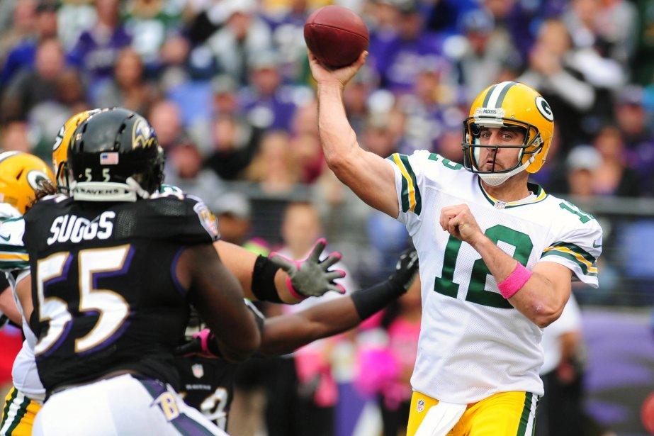 Le quart des Packers de Green Bay Aaron... (Photo Evan Habeeb, USA Today Sports)