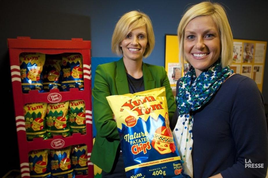 Valérie Jalbert, PDG de CroustillesYumYumet d'Aliments Krispy Kernels,... (PHOTO ANDRÉ PICHETTE, LA PRESSE)